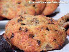 Aux délices de Géraldine: Cookies moelleux à la banane et aux pépites de chocolat