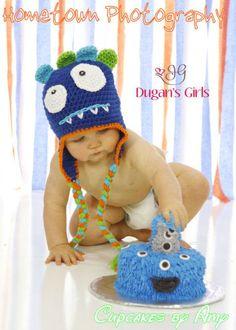Crochet by Dugan's Girls {Bug-eyed MoNsTeR hat}