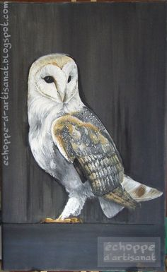 Items similar to Barn owl- oil painting- on Etsy Owl Photos, Barn, Paintings, Oil, Unique Jewelry, Handmade Gifts, Photography, Animals, Vintage