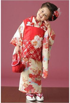 Shich-go-san ceremony girl in kimono, Japan