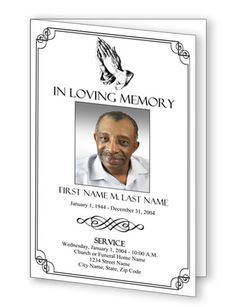 33 best funerals images on pinterest funeral program template free