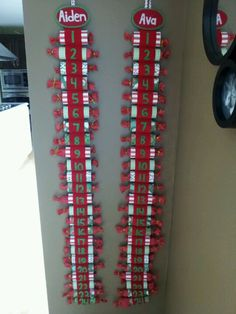 Toilet paper rolls advent calendars for each child (?) - file under: future advent ideas
