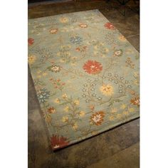 JaipurLiving Passages Sea Blue Rug Rug Size: 5' x 8'