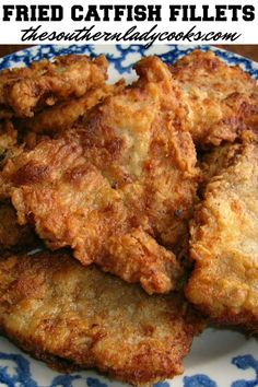 """Southerners know that fried catfish is the other white meat! Southerners love a good """"mess"""" of fish and catfish is a favorite in the South. Catfish Batter Recipe, Catfish Nuggets Recipes, Fried Catfish Nuggets, Pan Fried Catfish, Fried Catfish Recipes, Southern Fried Catfish, Baked Catfish Fillets, Fish Dishes, Seafood Dishes"""