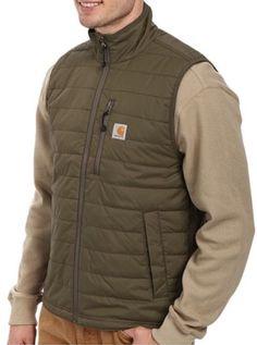 Carhartt Gilliam Vest Down Puff Sz M Men's Green $70 Waterproof | eBay