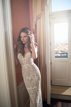 Berta's Style 15-109 is a work of art. A jaw-dropping pattern throughout, this fit and flare heightens the creative appeal of this modern version of a classic embroidered gown. via #StrictlyWeddings Great wedding ideas you can find here: www.weddingideastips.com