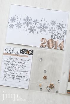 on today: hello december ~ stampin up project life