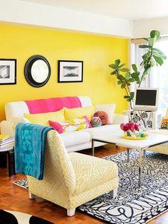 Paredes amarelas: 60 inspirações para sua decoração