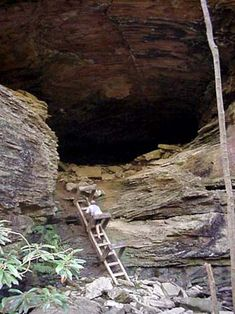 Big South Fork Honey Creek.  Difficult hiking. climb boulders, narrow tunnels, ladders to descend