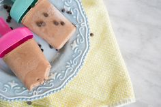 Chocolate Chip Fudgsicle made with coconut milk