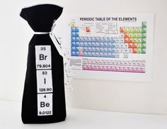 Wine Gift Bag Periodic Table Bribe by YellowBugBoutique on Etsy, $15.00