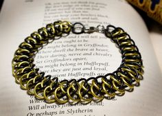 Hogwarts Collection  Arkham Chainmaille Bracelet  Hufflepuff by HowlOwl. Harry Potter