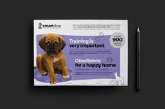 Puppy School Flyer Template by BrandPacks on @Graphicsauthor