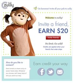 zulily welcome mail