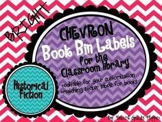 Pour préparer les étiquettes de livres et de bacs de livres. Document modifiable et gratuit