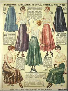 petticoat ad 1917 - Google Search