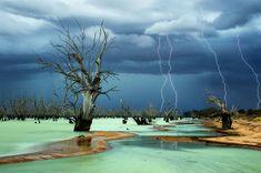 Lake Menindee in New South Wales, Australia