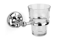 Voga Industries Traditional Design British  Collection Tumbler/Holder-Clear