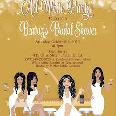 All White Party Invitations