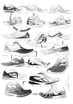 footwear sketches by Pedro Manzanero Villanueva at Coroflot.com
