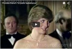 Watch Video Princess Diana's 1st public appearance