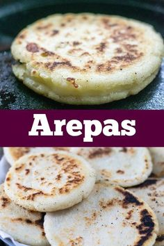 mexican food recipes Arepas are super popular in Colombia and Venezuela. They are easy to make and can be eaten at any meal of the day. Mexican Dishes, Mexican Food Recipes, Snack Recipes, Cooking Recipes, Cooking Blogs, Corn Flour Recipes, Masa Recipes, Spanish Recipes, Appetizer Recipes