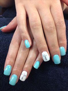 Charlene's nails. Cross gel nail art.