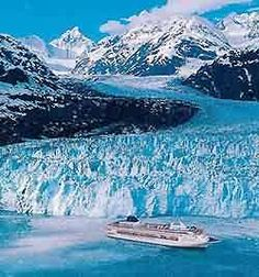 View glaciers up close and personal on an #Alaska #Cruise.