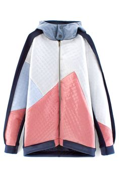 STEVEN TAI QUILTED SILICONE HOODIE