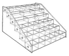 """Mini Bin, six trays-size: 7 1/4 """" H x10 1/4"""" W x 12"""" D  Extra-small compartments make it easy to keep tiny items stocked in this bin unit. The mini bin system is made up of trays that are 1"""" H x 10"""" W x 1-3/4"""" D."""
