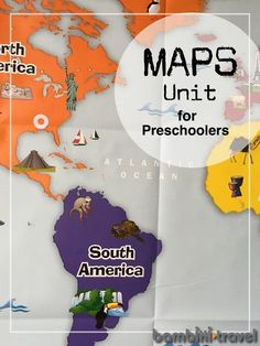 Maps Unit for Preschoolers | Learning about maps on preschoolers. Field trips, children's picture books, and activity ideas for learning about maps. | Bambini Travel