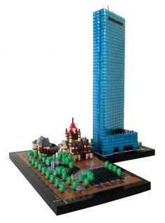 https://flic.kr/p/Cn4A4y | The Church and the Skyscraper | Boston's Trinity Church with Copley Square, and the John Hancock Tower. The John Hancock Tower is a sixty story 790 foot office tower located in Boston's Back Bay neighborhood. The tower was designed by architect Henry Cobb and has stood as the tallest tower in New England for nearly forty years. The tower is no longer owned or occupied by the John Hancock corporation and in 2015 was renamed by its street address as 200 Clarendon…
