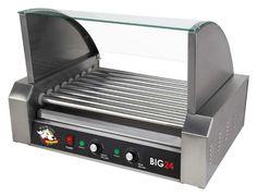 Shop Roller Dog Bib 24, 1350 Watt , Commercial Quality Stainless Steel, Table Top Hotdog Roller - (Sale Savings)