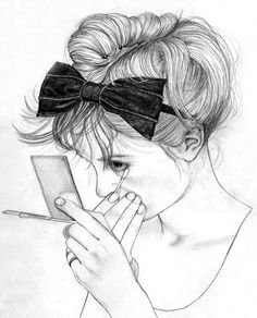 Illustration. Makeup, girl, eyes