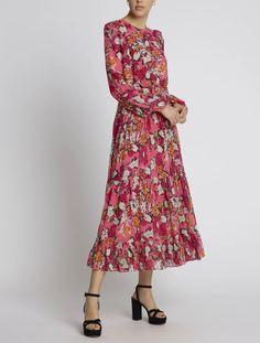 New Arrrivals Spring Summer 2020 - Maison Gassmann Veronica, Boho, Portrait, Pink, Spring Summer, Dresses With Sleeves, Long Sleeve, Fashion, Floral Dresses