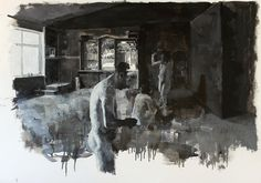 Julien Spianti, Loth in Zoara, 2011, Oil on paper, 100 x 70 cm, Private collection, London ©