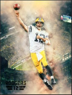 Nfl Green Bay Packers Aaron Rodgers Poster Hail Mary Team Spirit Store Product from $9.95