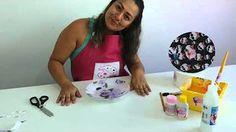 Acrilex - Artesanato - Decoupage em porcelana - YouTube