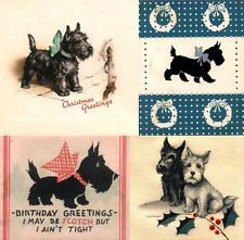 Vintage Christmas Card Images On CD Scottie Dogs