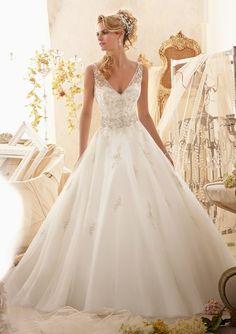 Organza V-Neck Ball Gown Sexy Wedding Dress $369 Sexy Wedding Dresses