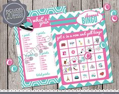 PARTY PRINTABLES- Printable Party Games, Origami Owl party games, Origami Owl hostess games, what's in your purse, bingo, Chevrons