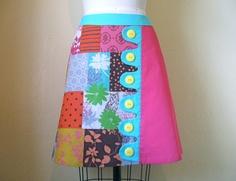Betty Lou asymmetrical a-line skirt via Etsy.