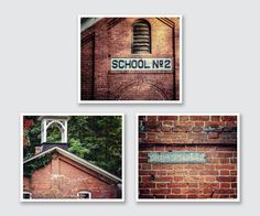 RUSTIC SCHOOLHOUSE PRINT SET This curated set of 3 includes my favorite rustic schoolhouse images. Two vintage school buildings along with the