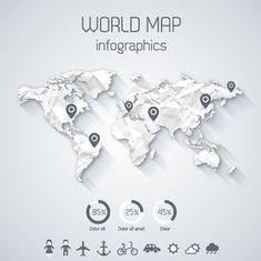 World map vector infographic template arte grfica pinterest creative world map and infographics vector graphics 03 free gumiabroncs Image collections