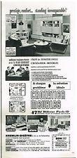 Publicité Advertising 1969 Mobilier Crozatier Meubles