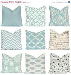 SALE Pillow, Decorative Pillow, Throw Pillow, Pillows, Toss Pillow, Accent Pillow, Pillow Covers, Village Blue Pillows Various Sizes
