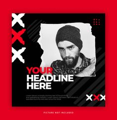 Fashion Square Banner Or Flyer Template. Event Poster Design, Graphic Design Posters, Creative Advertising, Creative Flyers, Flyer Design Inspiration, Layout Design, Banner Design, Brochure Template, Flyer Template