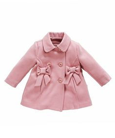 Take a look at this Light Pink Bow Coat by Andywawa on #zulily today!