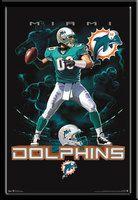 Miami Dolphins Football Lightning Design Fan Poster #BleedAquaAndOrange  #Dolphinsfan