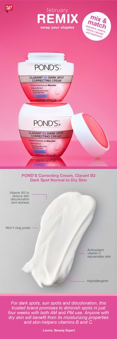 Did you know? Antioxidant vitamin C, a main ingredient in POND'S Clarant B3 Dark Spot Correcting Cream, helps to even-out and hydrate skin for a younger-looking complexion.